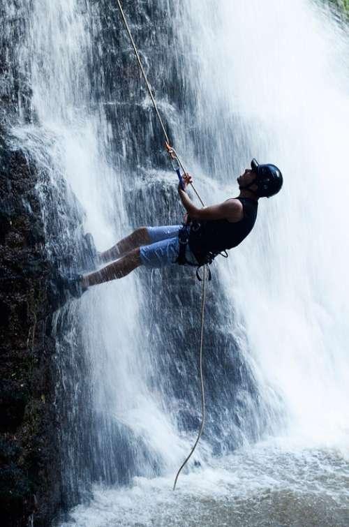 Waterfall Rappelling Waterfall Wet Colonial Corner