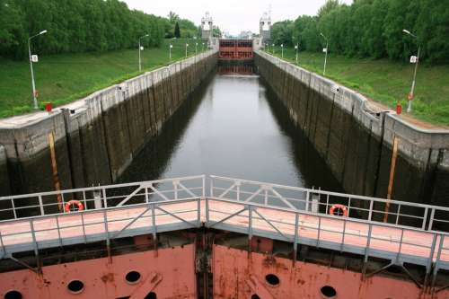 Watergate Lock Water Canal Canal Heavy Rusty