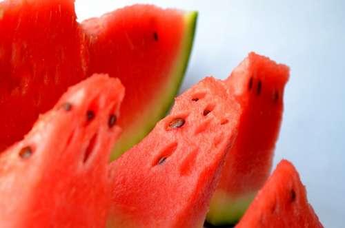 Watermelon Melon Cut Fruits Sliced Red Fresh