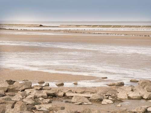 Watts Wadden Sea North Sea Neuharlingerseiel Ebb