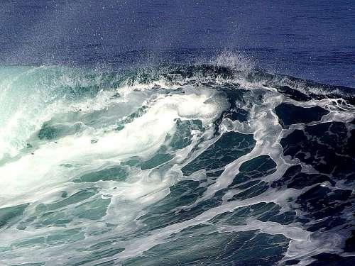 Wave Waves Landscapes Nature