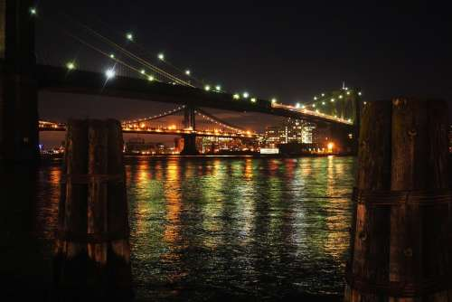 Wayne Rooney Brooklyn Bridge New York Night View