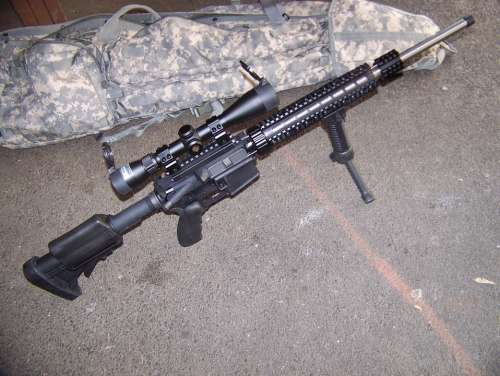 Weapon Gun Rifle Wildcat Caliber Ar Ar15 6X45