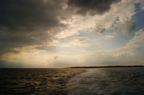 Weather Lake Sea Clouds Evening Sky Ocean