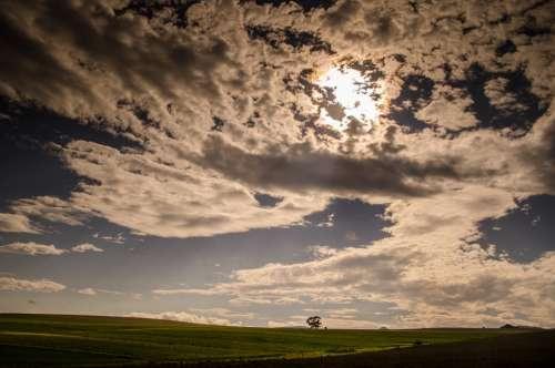 Weather Clouds Sun Meadows Pasture Grass Fields