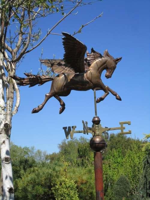 Weather Gage Weather Horse Bronze Wind Garden