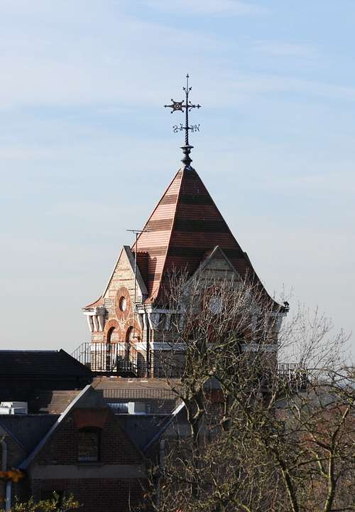 Weather Vane Tower Roof Tiles