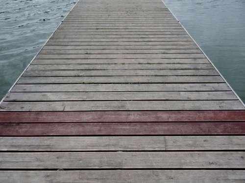 Web Lake Jetty Waters Nature Idyll