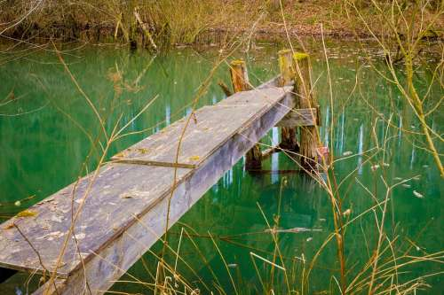 Web Lake Pond Landscape Nature Waters