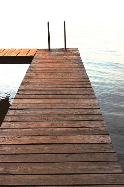 Web Bank Lake Waters Jetty Water