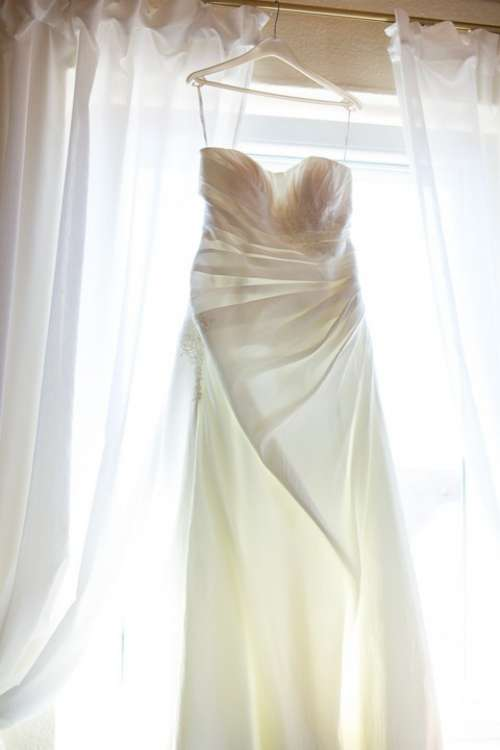 Wedding Dress Curtain White Marriage