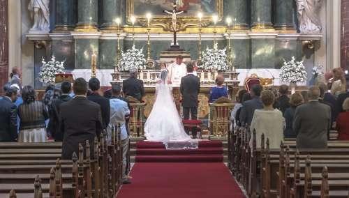 Wedding People Church Nuptials Event Heart Grooms