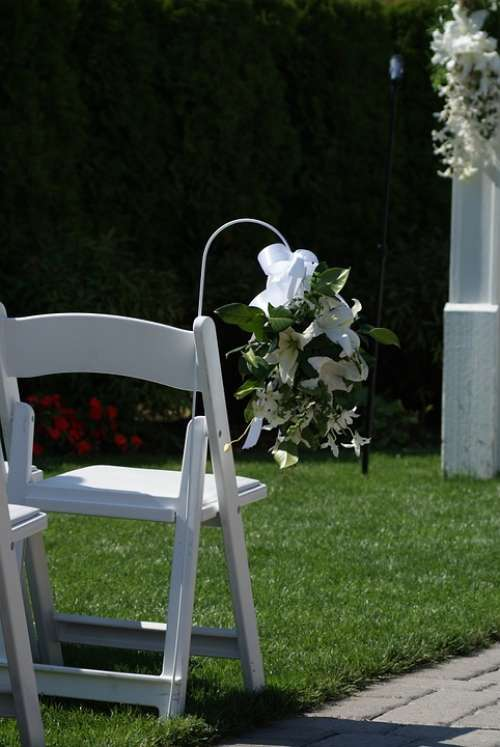 Wedding Chair Romance Marriage Ceremony
