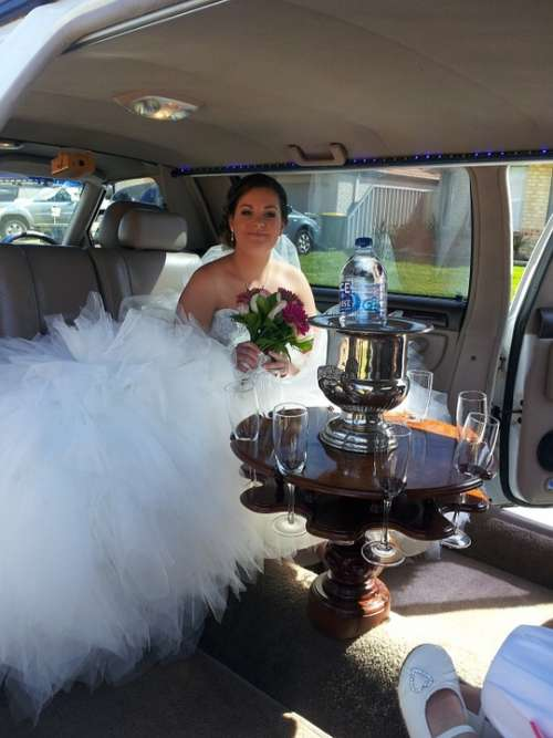 Wedding Bride Limousine Love Marriage Female