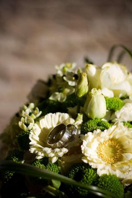 Wedding Bouquet Flowers Florist Flora White Green