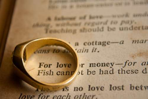 Wedding Ring Wedding Love Or Money Phrase Marriage