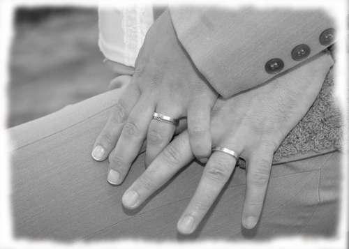 Wedding Rings Rings Black White Wedding Hands
