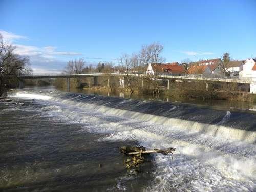 Weir Barrage Danube Rottenacker