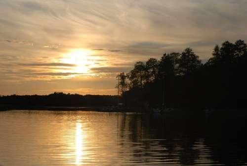 West Nature Summer The Sun Sunset Sky Clouds Sea