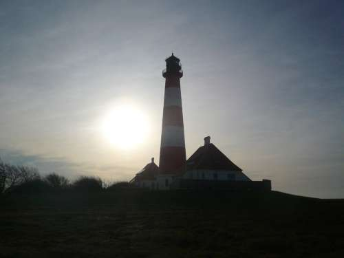 Westerhever North Sea Lighthouse Nordfriesland