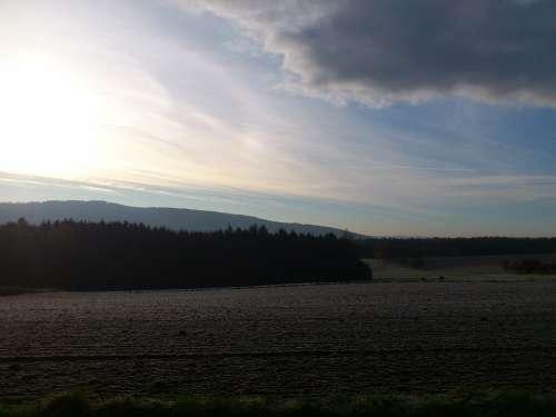 Westerwald Hoarfrost Ripe Winter Morning Winter
