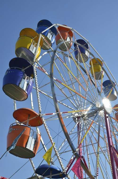Wheel Fair Colors Amusement Park London Ontario