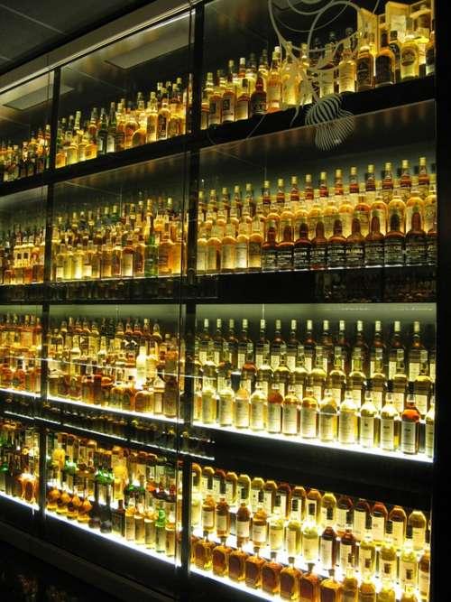 Whisky Whiskey Bottles Yellow Museum Edinburgh