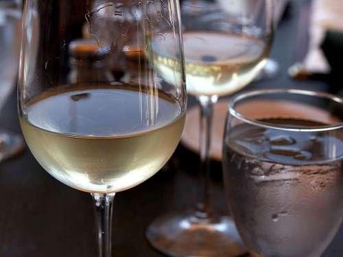White Glass Wine Drink Food