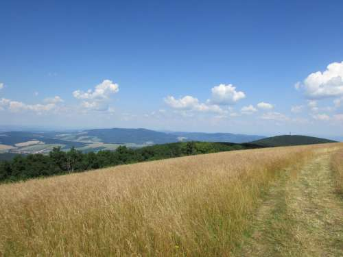White Carpathians Mountains Heaven Nature Summer