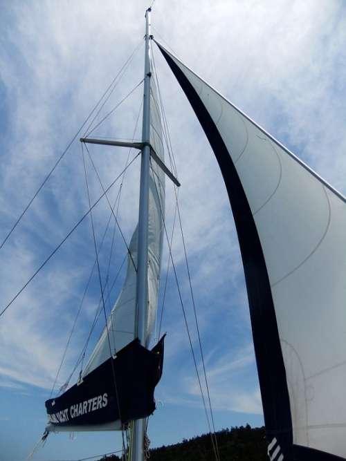 Whitsunday Sailing Boat Sail Main Mast
