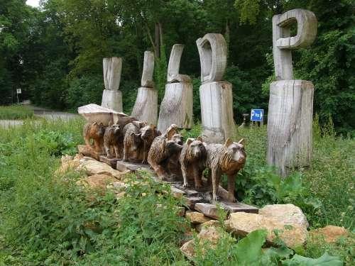 Wildlife Park Mergentheim Wood Sculpture Wolf