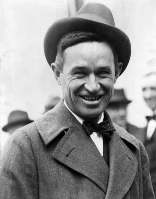 Will Rogers Humorist Actor Cowboy