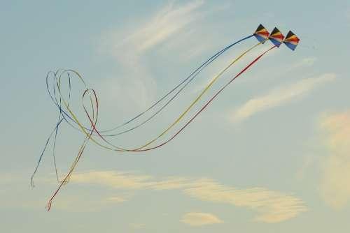 Wind Kite Blue Sky Air Clouds