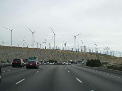 Wind Power Wind Turbine Road Alternative Energy