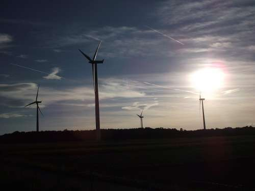 Wind Power Wind Energy Sky Clouds Pinwheel
