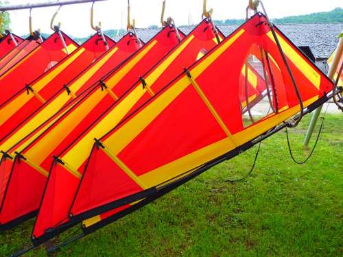 Wind Surfing Sail Colorful Red Yellow
