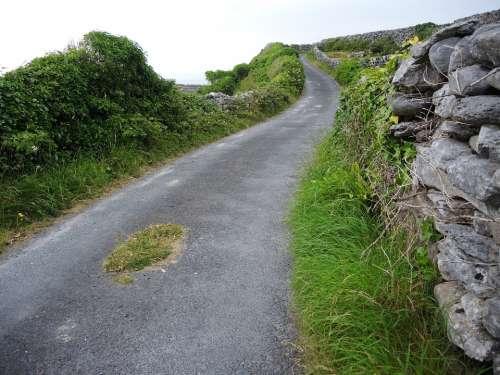 Winding Road Inisheer Ireland