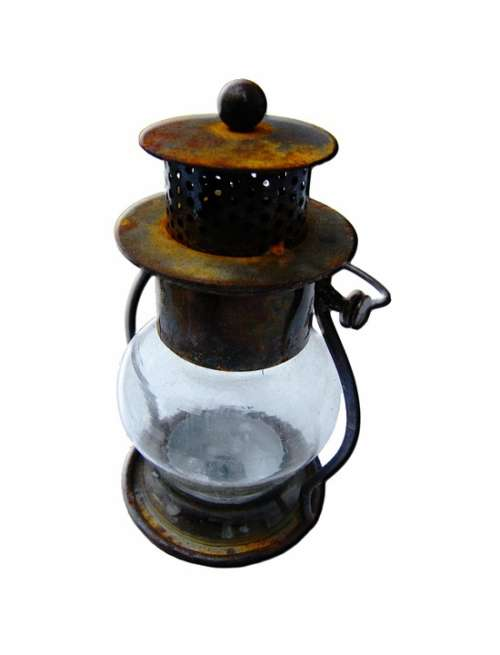 Windlight Isolated Danish Closed Glass Antique