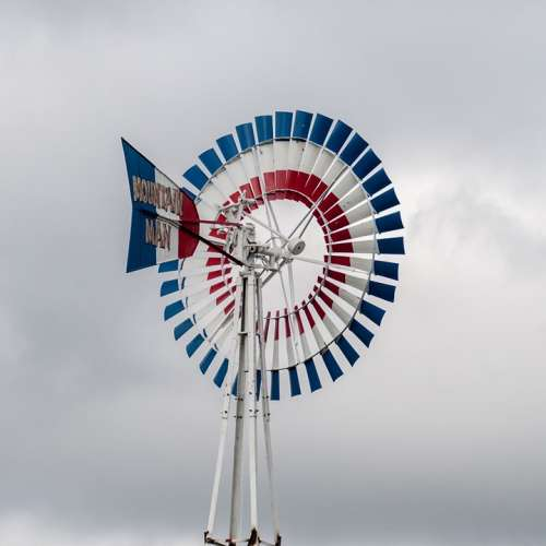 Windmill Wind Pump Old Mill Generator White Farm