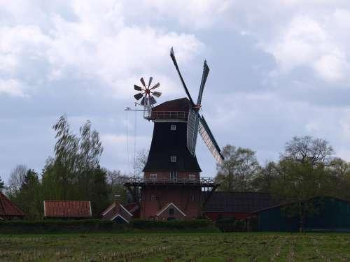 Windmill Flour Mill Mill East Frisia Pinwheel