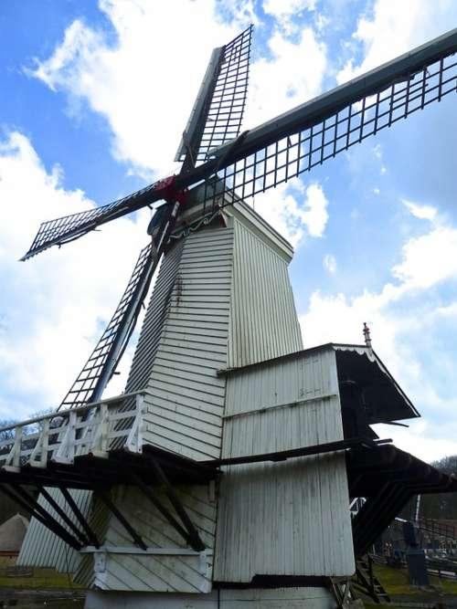 Windmill Dutch Netherlands Mill Sky Europe