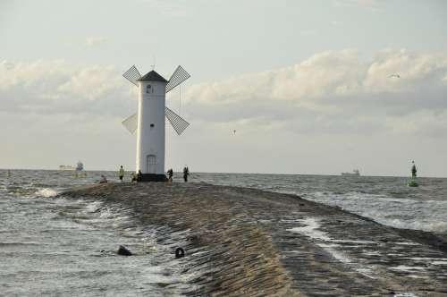 Windmill The Coast Sea The Shaft Navigation