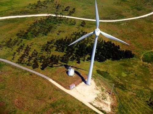Windmill Mills Aerial View Pinwheel