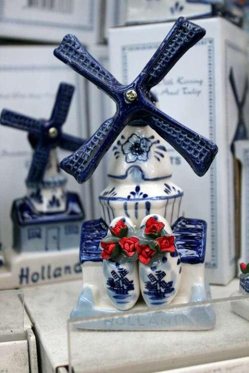 Windmill Amsterdam Holland Souvenir Ceramic