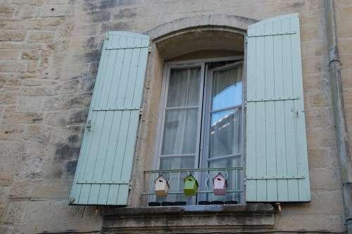 Window Shutters Open Facade