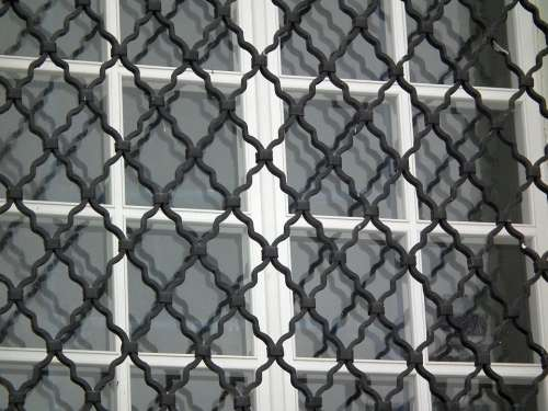 Window Grille Glass Building Architecture City