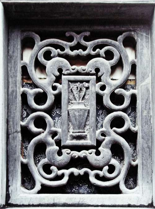 Window Stone Carving Architecture Exterior Old