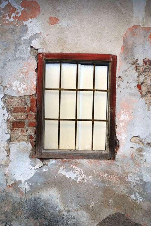 Window Old Slovenia Bricks