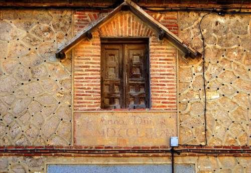 Window Old Segovia Architecture Facade Buildings