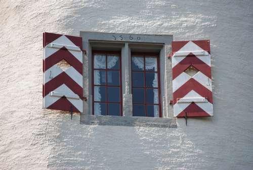 Window Middle Ages Castle Wildegg Aargau